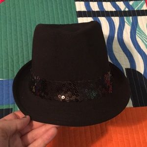 Accessories - Classic Black Fedora with Sequins